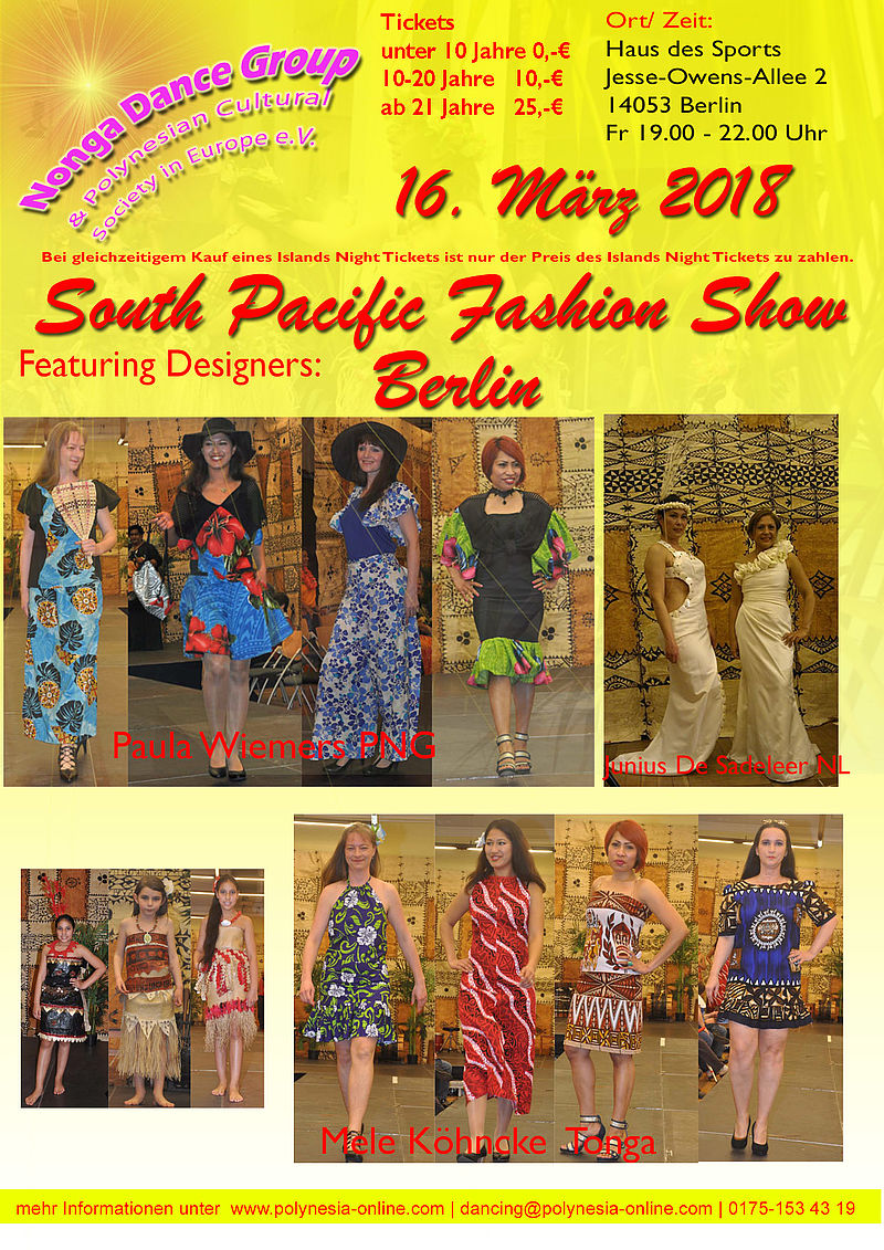 South Pacific Fashion Show 2018